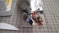 Name: Most of the spendy bits.jpg Views: 42 Size: 635.4 KB Description: Basic electronics are 4 * XT900 servos, 30 amp ESC, and (depending on battery pack used) a UBEC.