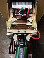 Name: 20170529_002605.jpg Views: 39 Size: 421.3 KB Description: Battery tray and ESC connector assembly aligned at last.  Four set screws in each hold the connectors firmly in place.