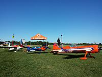 "My ""little"" 30% EF Extra 330SC-E in the line up for another round of competition at Site 4 of the IAC in Muncie, IN."