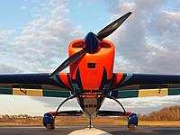 Name: 20200223_175748.jpg Views: 14 Size: 2.22 MB Description: With 7 HP driving a 28x13 CF propeller, over 200 Watts per pound and 1.6:1 thrust to weight ratio, this bird will soar!