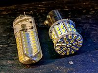 left bulb waterproof, right bulb might be brighter
