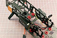 Name: cage-top-interior.jpg Views: 100 Size: 380.8 KB Description: Cage top interior detail showing GPS mast screw heads (the heads can come into direct contact with the battery so I used button heads) and cable routing.
