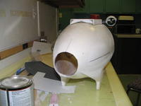 """Name: 22.jpg Views: 217 Size: 53.6 KB Description: the new shape of the stern of the main body, note the 3"""" hole."""