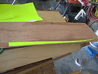 Name: IMG_2127.jpg Views: 9 Size: 1.50 MB Description: They supplied 0.125 x 0.75 of an inch spruce, but it didn't want to bend so I used my plywood 1/8 and I made a pattern