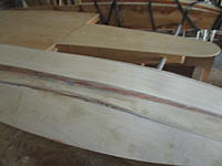 Name: IMG_2129.jpg Views: 9 Size: 1.32 MB Description: Blocked out the beams if you will or keel and sanded the the bottom to fit then I cemented it