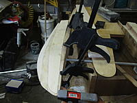 Name: IMG_2132.jpg Views: 9 Size: 1.26 MB Description: So the kit supplies a piece of three-eighths by three quarters spruce I think it sold its petrified. So in lieu of that I used the three-eighths balsa