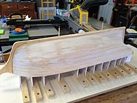 Name: IMG_1995.JPG Views: 38 Size: 1.57 MB Description: Stem and keel in place.