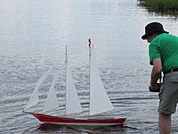 """Name: IMG_0086.JPG Views: 15 Size: 4.45 MB Description: Launching the schooner,  """"Scalywag"""" That's my good side"""