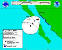 Name: JIMENA.jpg Views: 79 Size: 90.2 KB Description: As the Burly Electrian forecast- this storm died well before finding us.... bummer, I was hoping for some serious wind this weekend.  Greg