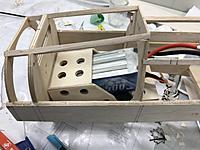 Name: IMG_2057.jpeg Views: 5 Size: 1.58 MB Description: Too many issues, would have to create a full canopy battery hatch, the servos wouldn't sit in their proper position,  I wouldn't be able to strap the battery in and so on...so I went with the original position
