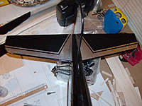 Name: HPIM0943.jpg Views: 53 Size: 64.2 KB Description: tail section half done....the same color scheme will be used on the wing