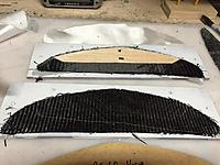 Name: ashoriz05.jpg Views: 248 Size: 109.1 KB Description: Both sides get a piece of 1/32 balsa  where shown, to help make stiff.  Limited on size due to how thin horizontal is.   Then another carbon on a 45 on top of that.