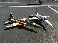 Name: pair f5.jpg Views: 127 Size: 192.9 KB Description: My Swiss F-5 and Craig Bolibruch's Navy F-5.