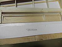 "Name: DSCN1388.jpg Views: 49 Size: 163.9 KB Description: 1/16"" bottom sheet, 3/16 x 1/8 front spar, 1/8 square frame pieces. Note grain direction of sheet."