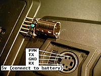 Name: i6_ppm_plug3b.JPG Views: 6268 Size: 50.8 KB Description: Pinout of trainer plug with hint on actually getting 5v on the 5v pin.