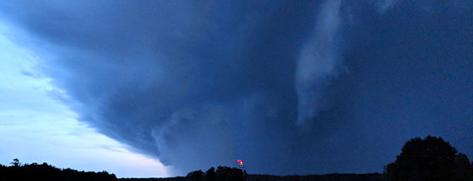 This impressive storm moved in Thursday evening and packed a wallop!