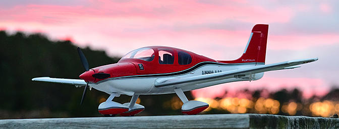 The UMX Cirrus is a perfect plane for flying at sunset.