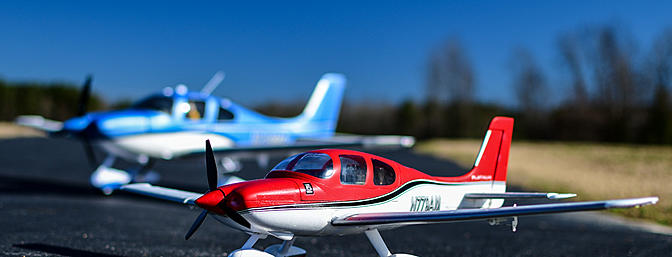 The UMX Cirrus is a spitting image of its bigger brother, the 1.5m Cirrus!