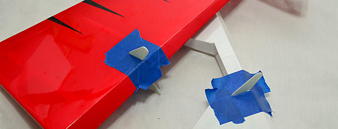 Rudder and elevator horns ready to glue.