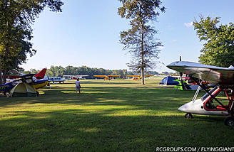 The view from my camp site. Planes everywhere!
