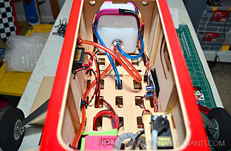 Fuel tank secured and all of the fuel lines routed, connected and secured with zip-ties.