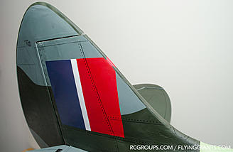 The printed covering scheme on the Phoenix Spitfire doesn't quite match up on the seams.