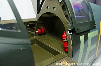Inside the rear of the cockpit.