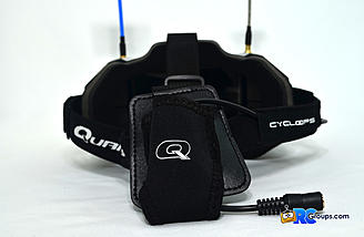 The battery pouch for the Quanum Cyclops Diversity DVR FPV Goggle might be a little tight for some batteries.
