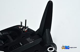 The antennae on the DX8e pivots about 70 degrees and is much stronger than the original pivoting antennae.