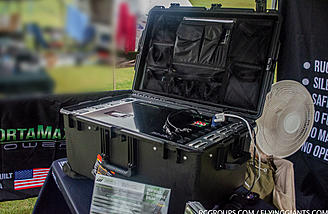 The Solar Sentinel is contained in a durable Pelican storm case.
