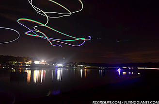 Night flying with float planes over the lake too!
