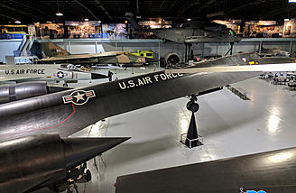 This hangar included a SR-71, F-111, MQ-9 Reaper Drone and U-2 Spyplane.