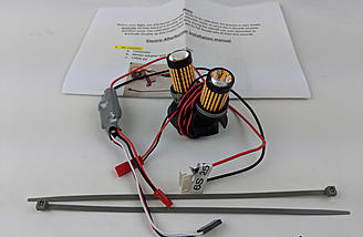 The Lightburner kit includes the bulb(s), control unit, zip ties and instructions.