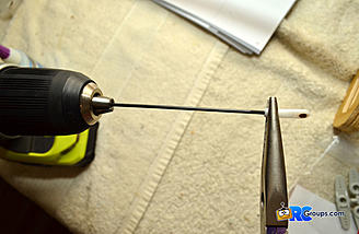 Use a drill and pliers to help thread the ball-links.