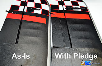 Add shine & paint protection with Pledge Floor Care!