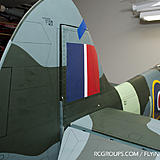 Elevator and rudder now on the Phoenix Spitfire. Now we're lookin' like a warbird!