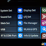 The final System tab contains all of your settings for WIFI, Bluetooth and file management.