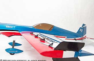 Brand new airfoil designed for high speed XA, Precision and 3D aerobatics! provide amazing flight performance! Along with a brand new set of especially positioned and designed Vortex Generators to push this plane to the next level of aerobatics!