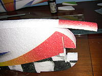 Name: IMG_1155.jpg Views: 197 Size: 190.2 KB Description: Now its time to glue the top EPP pieces that give the fuselage that nice and rounded look