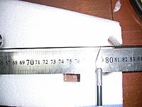 Name: IMG_1170.jpg Views: 197 Size: 169.4 KB Description: now cut the long CF rods that will go in the top part of the motor mount and fuselage, the size the instructions say is 780mm