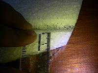 Name: IMG_1187.jpg Views: 190 Size: 184.7 KB Description: Now its time to make a slot on the elevator to install the CF rod, measure 5mm from the start of the hinge line