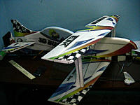 Name: IMG_1245.jpg Views: 292 Size: 274.1 KB Description: Ok now its time to glue the top wing, measure all you can to make sure it is straight, and then glue it with your favorite glue.  This was the end of my 2nd build session. At this point the airframe is ready for electronics.