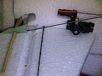 Name: IMG_1261.jpg Views: 210 Size: 147.4 KB Description: this is the elevator servo arm installed with the pushrod, with this geometry i get a lot of elevator throw!  After this one do the rudder and thats the end of all the servos and pushrods installation.