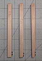 """Name: IMG_20190822_101531.jpg Views: 16 Size: 627.7 KB Description: Here are 5"""" square dowels with a ground face holding a small NdFeB magnet.  This magnet adheres to the motor bell and plumb is checked with a machinist's square.  I have  these at 0, 5 and 7.5^.  Made using a sliding miter on a table saw"""