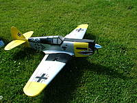 Name: dscf8284.jpg Views: 115 Size: 139.5 KB Description: This is my beloved P40 that the engine used to fly. The airplane was sold in Illinois. I have the motor free; none of my other aircraft can use it. And yes I know it is BF109 paintjob; I was bored to see everyone fly the Flying Tigers P40 ;)