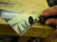 Name: IMG_8180.jpg Views: 316 Size: 58.3 KB Description: Cut out the new horns in the rough with one of those shatter wheels...