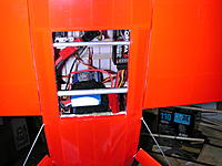 Name: DSCN6356.JPG Views: 59 Size: 652.9 KB Description: Hatch opening showing battery/battery tray installation and wing receiver tubes in the way.
