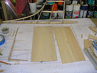 "Name: DSCN4360.jpg Views: 229 Size: 219.4 KB Description: Rudder ready for sheeting with glued up 1/16"" balsa rudder sheeting."