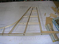 """Name: DSCN4361.jpg Views: 244 Size: 199.4 KB Description: Fin popped off the building board and lower aft section sheeted with 1/16"""" balsa."""