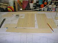 "Name: DSCN4362.jpg Views: 222 Size: 198.0 KB Description: 1/16"" balsa pieces for fin sheeting glued up."